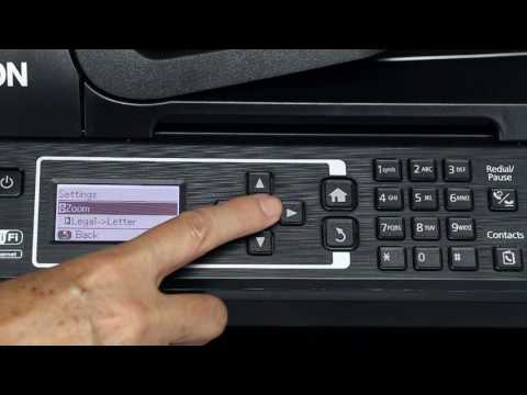 Epson WorkForce ET-4500 & ET-4550 | How to Enlarge or Reduce Your Copy Size