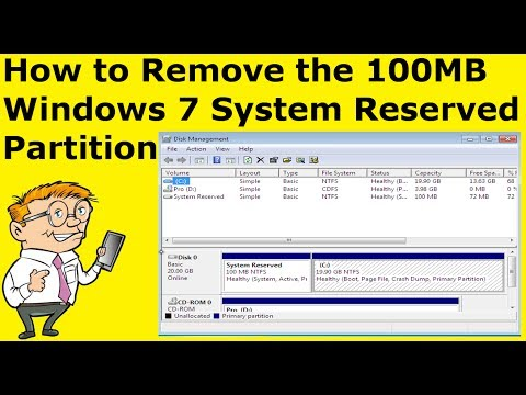 How to Remove the 100MB Windows 7 System Reserved Partition (Guide)