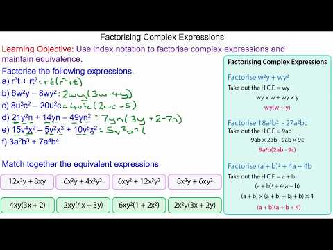 Factorising Expressions with Powers