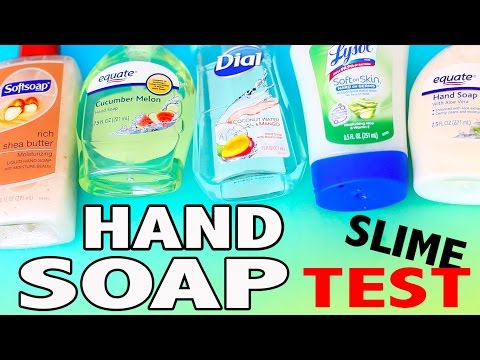 HAND SOAP SLIME TEST - without borax, liquid starch, corn starch, baking soda, eye drops
