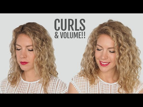 How to restyle curly hair fast and get mega volume