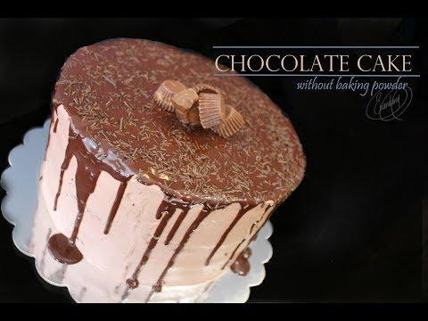 chcolate cake without  baking powder( inglish)