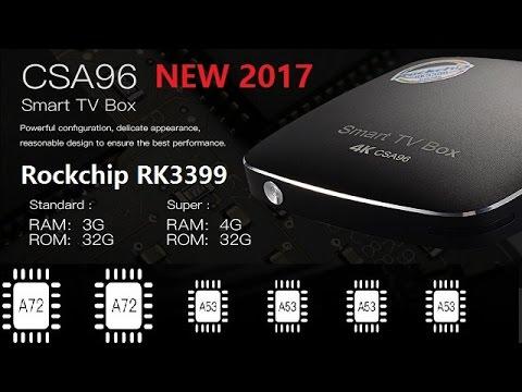 NEW! CSA96 Box Rockchip RK3399 4G/32G Android 6 0 TV Box