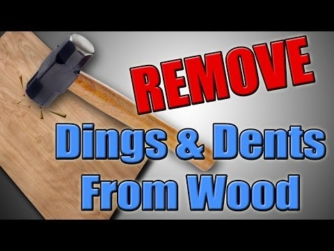 Removing Dents and Scratches From WOOD - Quick and Easy
