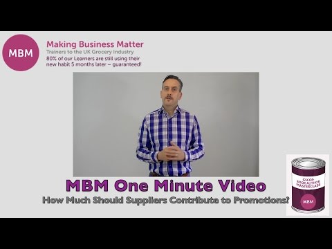 GSCOP Tips - How Much Should Suppliers Contribute to Promotions? - MBM One Minute Video