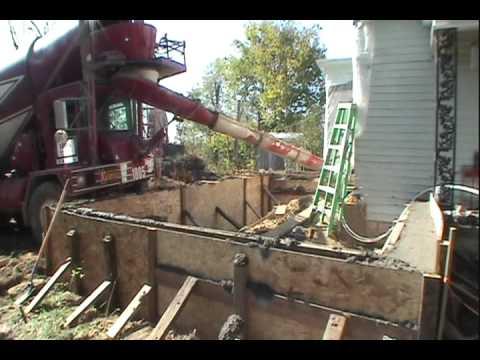 Addition Foundation Concrete Pour