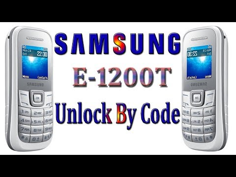 Samsung E1200T Phone Unlock By Hand Code