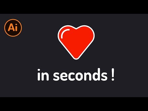 Create Heart Icon in SECONDS in Adobe Illustrator