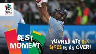 Yuvraj Singh slams six sixes off Stuart Broad   ENG v IND   T20 World Cup 2007