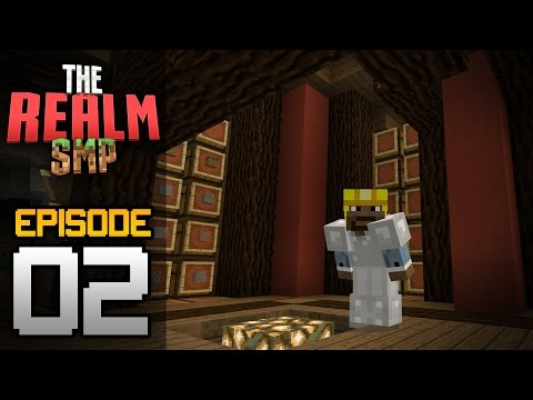 Realms Multiplayer Survival Ep. 2 - STORAGE ROOM & MINING! - Minecraft PE (Pocket Edition)