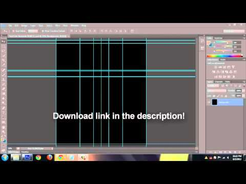 How To - Free Blank YouTube Layout Template 2012 Layout