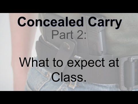 Episode 46 - Concealed Carry 2: What to expect at class.