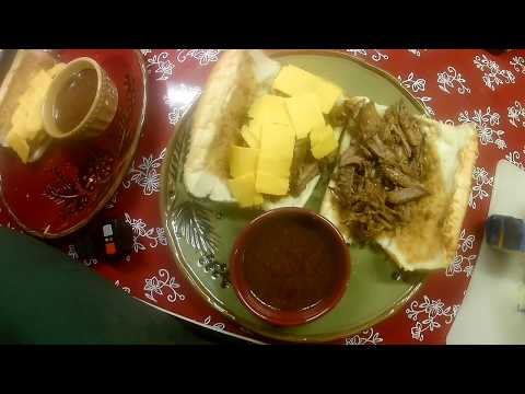 French Dip Sandwiches- Crock pot freezer meal Part 2- End Result
