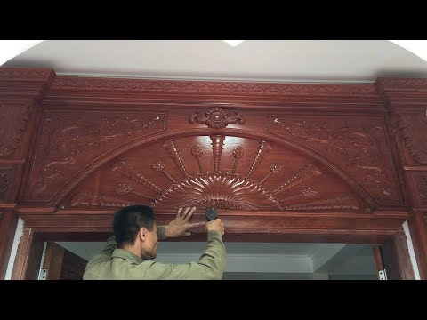 How To Build And Install A Front Door Frame For New House (PART 2) - Amazing Woodworking Project