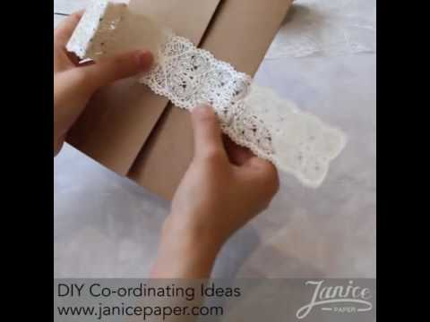 DIY Pocket Fold Invite with Laser Cut Belly Bands to Match Rustic Themes - JanicePaper