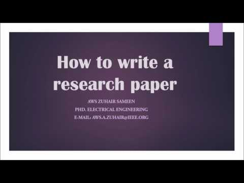 5. How to write a research paper - Title -  Abstract -  Keywords