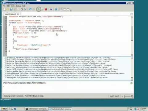 Extracting Last Logon Time from Active Directory using Powershell.mov