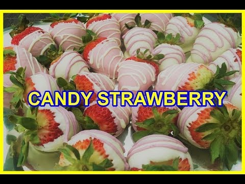 How to Make Chocolate Covered Strawberries in different colors