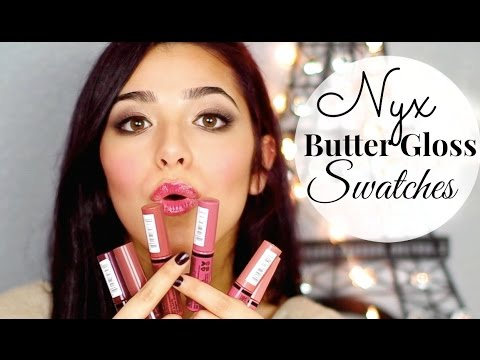 NYX BUTTER GLOSS: HAUL + SWATCHES