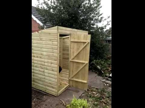 DIY How to build a Pent Shed