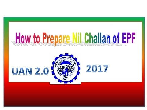 how to generate nil pf challan