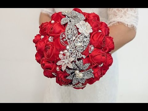 #1 DIY How to make your own wedding bridal brooch bouquet