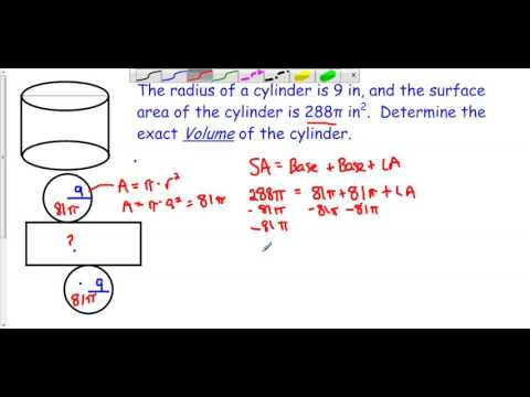 Working Backward with Cylinders - Example 2