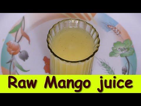 Raw Mango juice in kannada green mango juice  how to make green mango juice