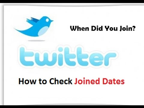 How to find Twitter Joined Date