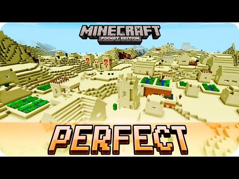 Minecraft PE Seeds - Perfect Desert Seed with 3 Villages and 2 Temples - 1.2 / 1.1 MCPE