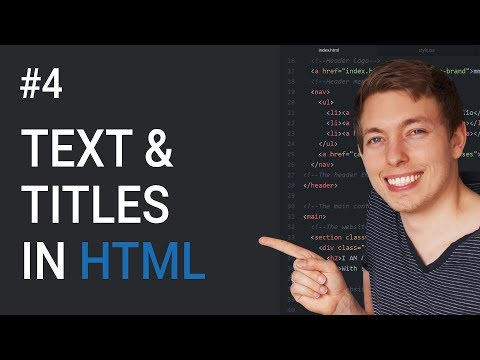 4: Learn to Create Titles and Text Using HTML | Learn HTML and CSS | HTML Tutorial