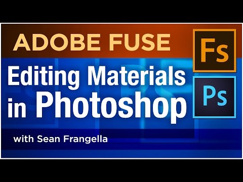 Adobe Fuse CC Tutorial - Edit Materials in Photoshop for 3D Characters created in Adobe Fuse