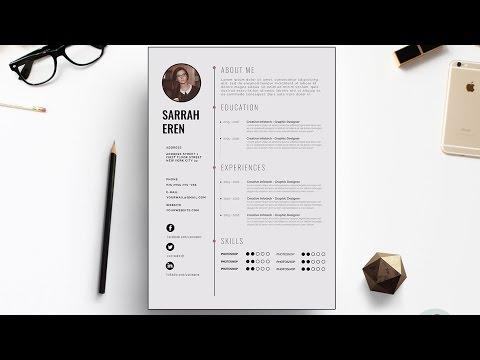Clean CV Template Design |  Photoshop Tutorial