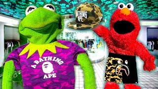 Kermit the Frog and Elmo Buy BAPE Clothing!
