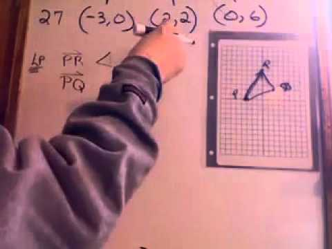 Use Vectors to Find Interior Angles (530pc)of Triangle with Given Vertices- GMVS