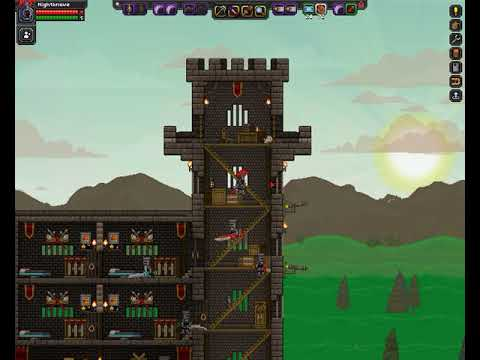 Starbound - A tour of my Glitch Castle