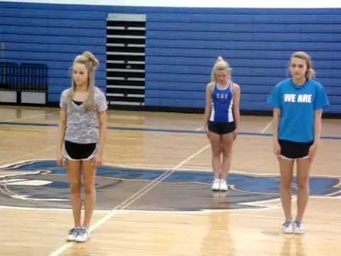 Cheer tryout dance