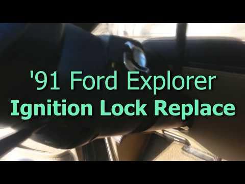 FORD EXPLORER Ignition Lock Cylinder Removal