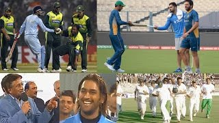 8 Unforgettable Friendship Moments between India and Pakistan in Cricket History | BEST TEAM SPIRIT