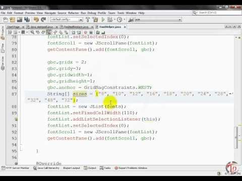 Java Notepad Project(Font Dialog)-part 17