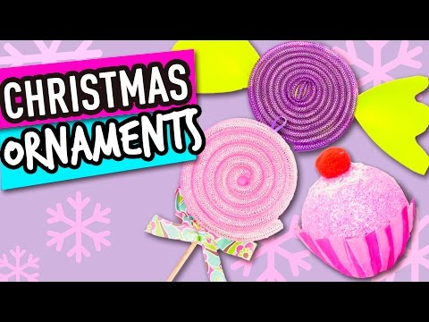 Christmas Ornaments DIY | Candy Christmas Decorations | Decorate the Christmas Tree - The Cat Crafts