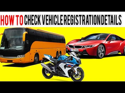 How to check Vehicle registration details via SMS