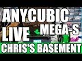 ANYCUBIC Mega-S 3D Printer - Live First Print - Chris's Basement