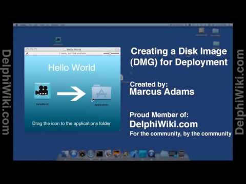 How to create a dmg disk installer file on mac 2016