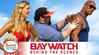 The Rock + Zac Efron + Oil = Best Baywatch Interview