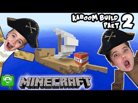 Minecraft KABOOM Part 2! Ship Build Challenge on HobbyKidsGaming