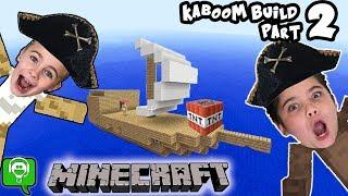 Minecraft KABOOM Part 2! Ship Build Challenge on HobbyKidsGaming
