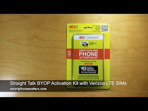 Straight Talk BYOP Activation Kit with Verizon LTE SIMs