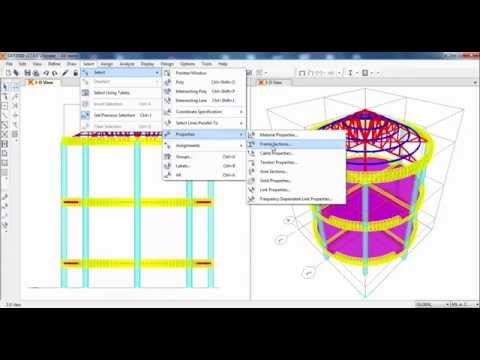SAP2000-Curved Beam in Plan with Roof Truss