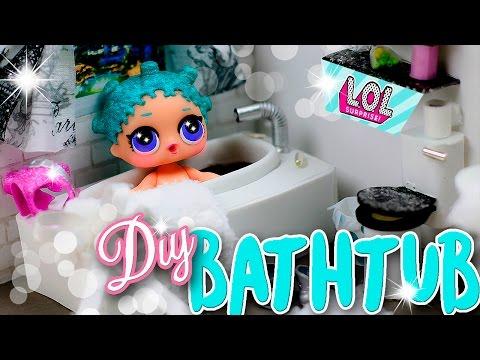 Realistic Miniature Bathtub for LOL Surprise Dolls DIY ~ Dollhouse Tutorial ♥